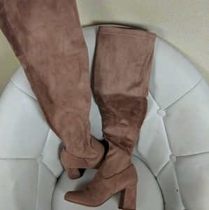 Shoes - Thigh high mauve boots